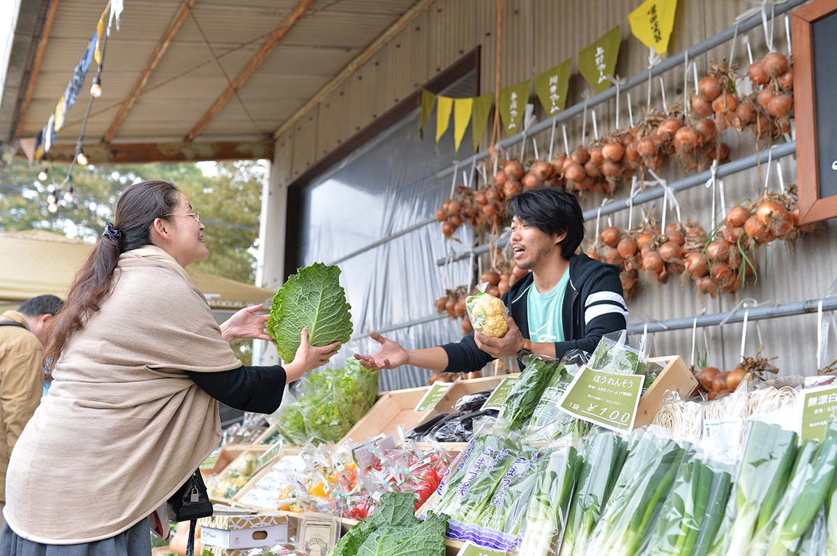 吉田村まつり 地元野菜のマルシェ